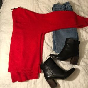 Red H and M sweater